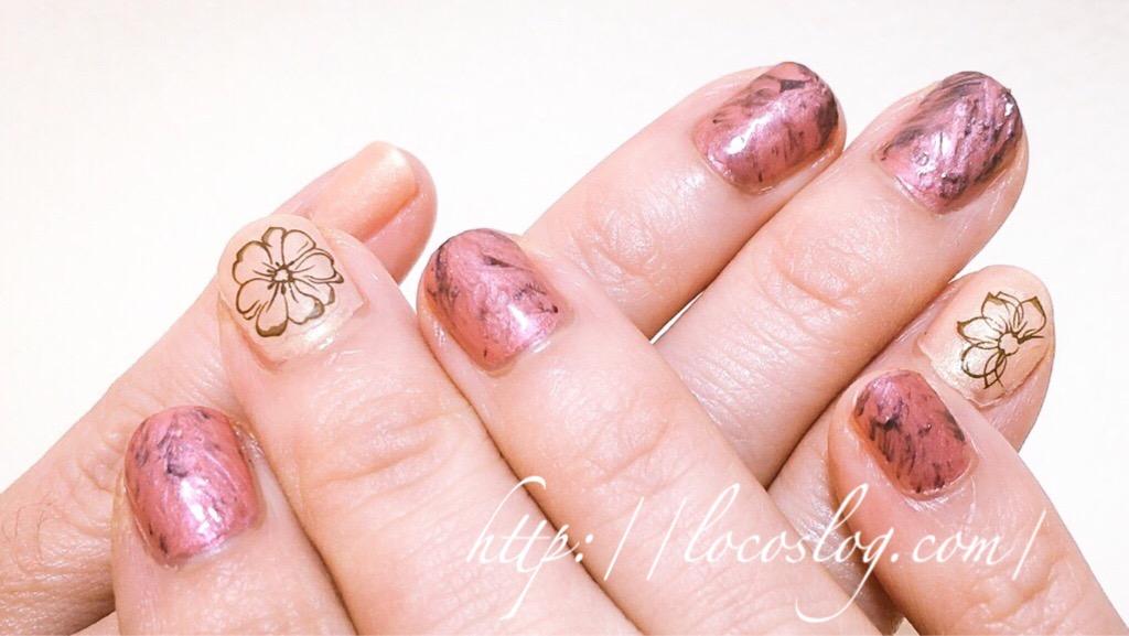 【OPIバレンタイン】ピンク大理石風ネイルのやり方!マニキュアで。