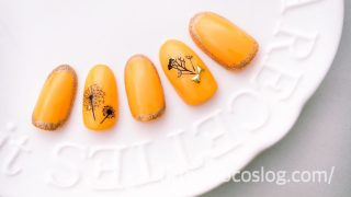 塗って貼るだけ【春OPI】黄色がキュートな「綿毛たんぽぽ」セルフネイル